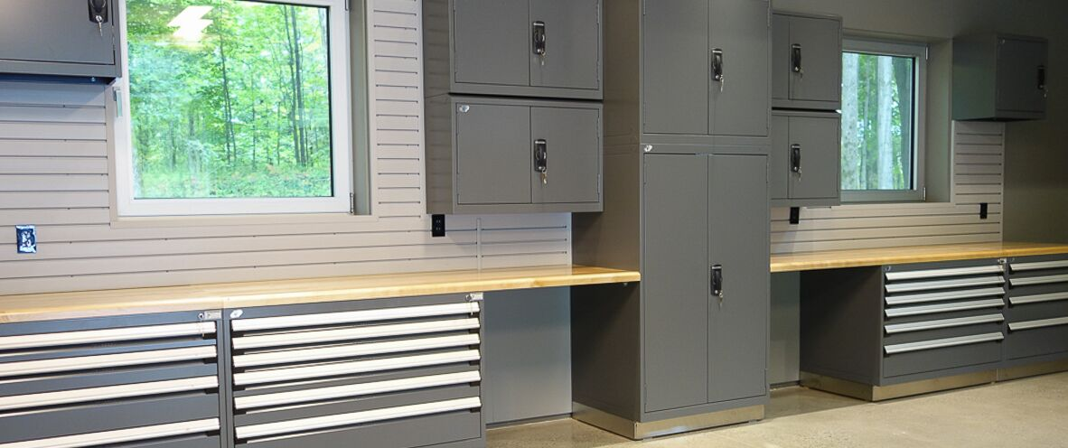 Products - Garage Steel Cabinet - Espace Garage Plus