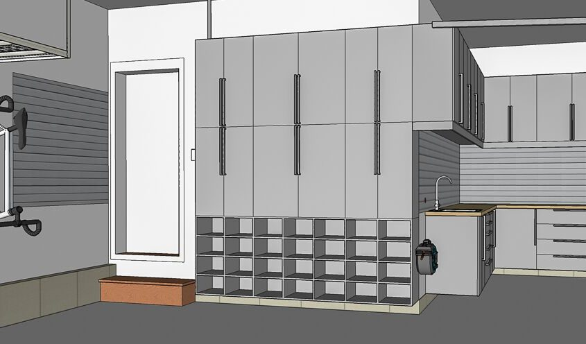 Services - Plan d'aménagement en 2D - Espace Garage Plus